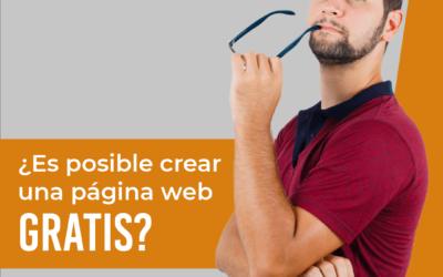 ¿Es posible crear una página web gratis?